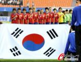 韩国队唱国歌