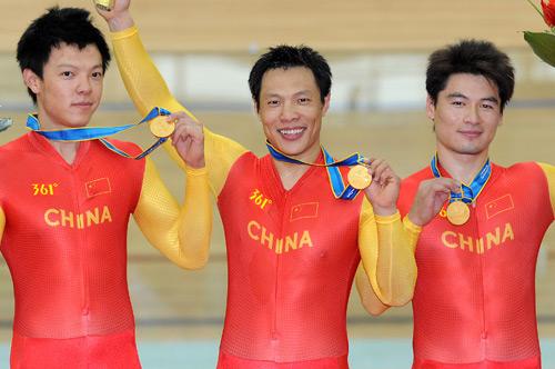 广州亚运中国自行车首金诞生