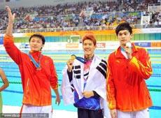 男子400米自由泳孙杨摘银张琳季军朴泰桓夺冠