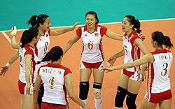 亚运小组赛中国女排3-1力克泰国四连胜头名出线