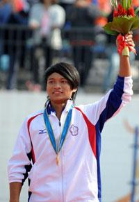 中华台北选手包揽男子轮滑300米计时赛金银牌