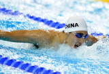 中国选手陈寅在比赛中