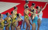 中国队准备入水