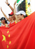中国队选手庆祝胜利