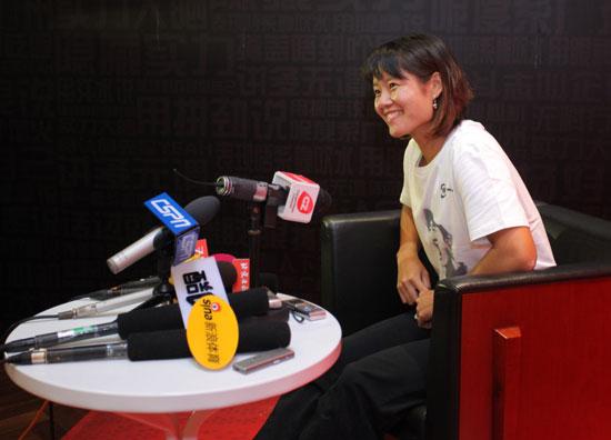 李娜接受采访