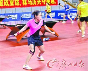 在东京世乒赛女团比赛中表现出色,刘诗雯对亚运会再战团体赛充满信心。 本报记者 廖艺 摄