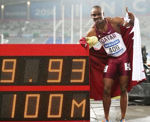 百米苏炳添亚军张培萌第4卡塔尔9秒93破亚洲纪录