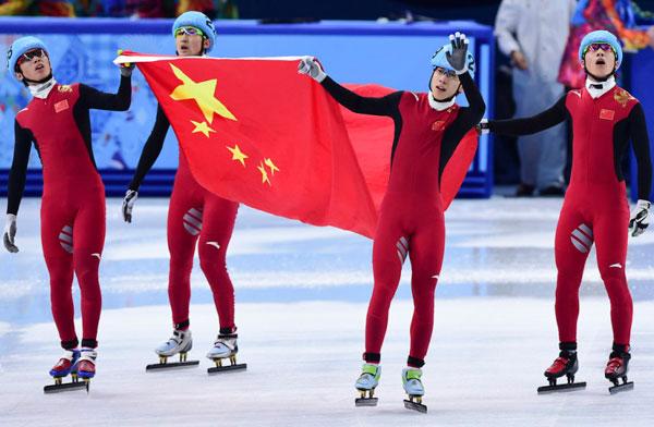 男子接力中国疯狂超越夺铜牌