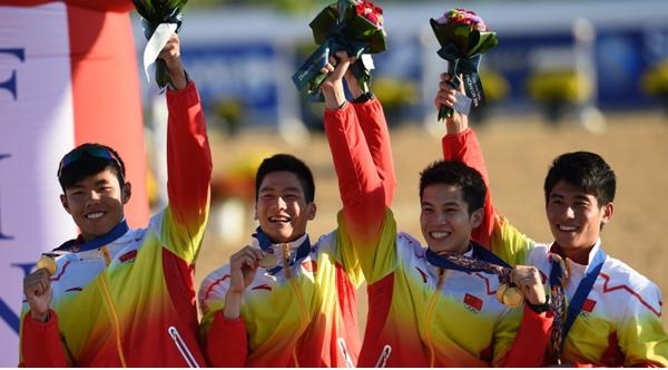 亚运会现代五项团体赛中国夺冠