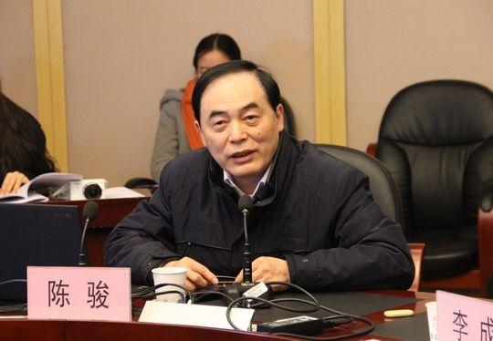"""中科院院士、南京大学校长陈骏出席座谈会并介绍了南京大学""""五位一体""""创新创业教育体系的构建与实践情况"""